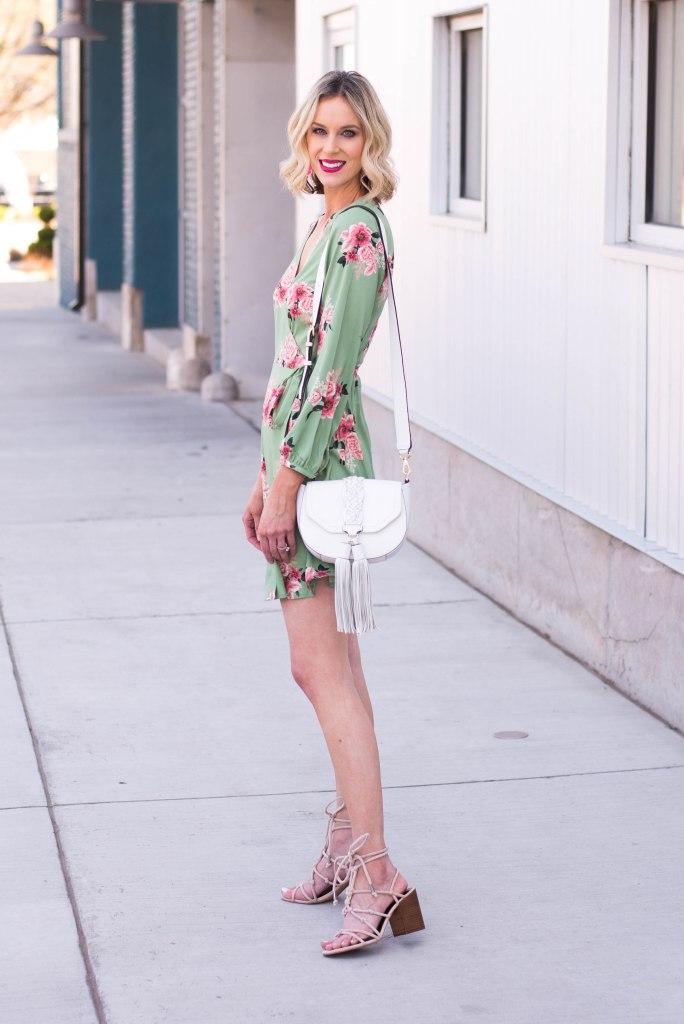 knee length floral dress for spring