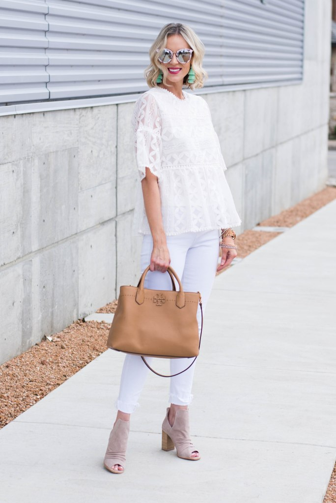 all white monochrome outfit