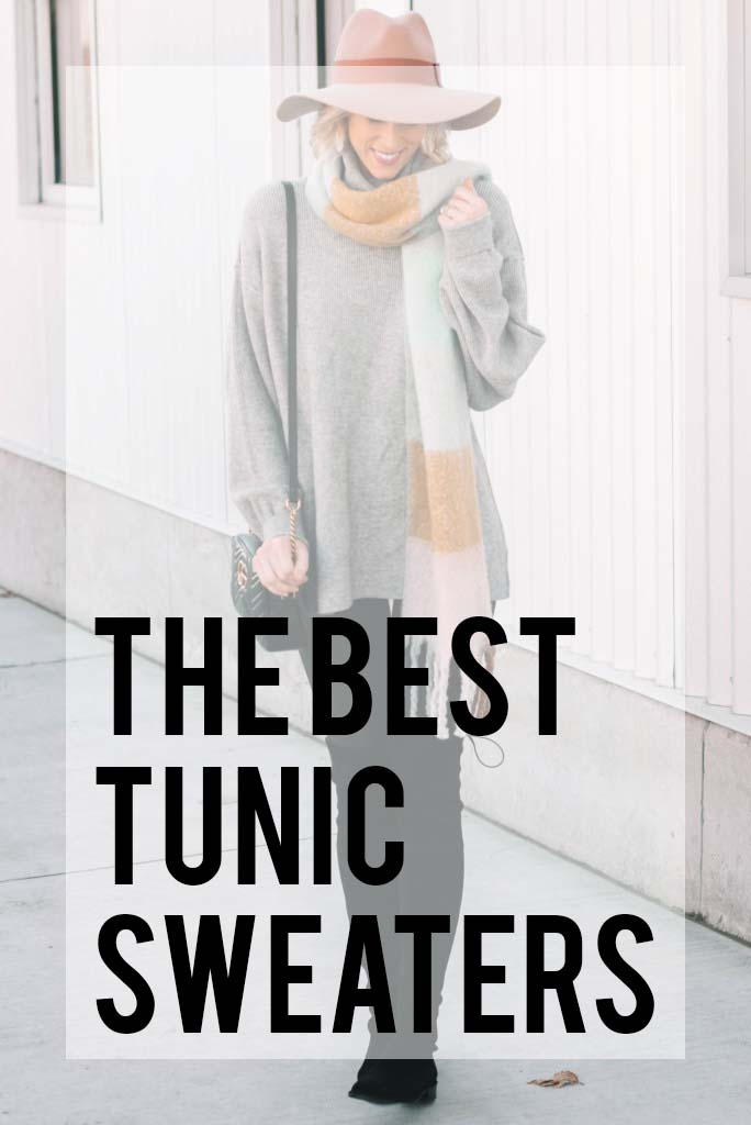 the best tunic sweaters to wear with leggings, boots, and/or jeans all fall and winter at all price points