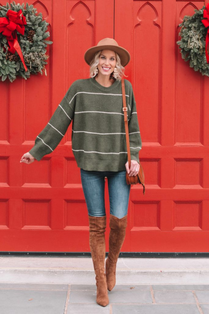 easy sweater and boots combo for winter