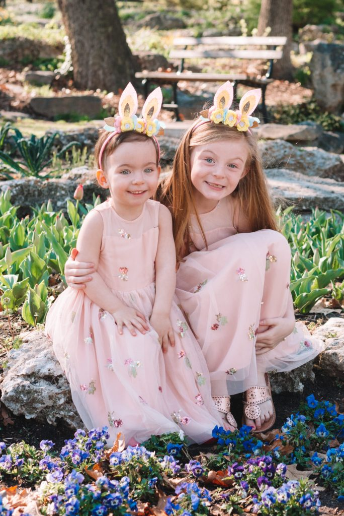adorable matching Easter dresses for girls