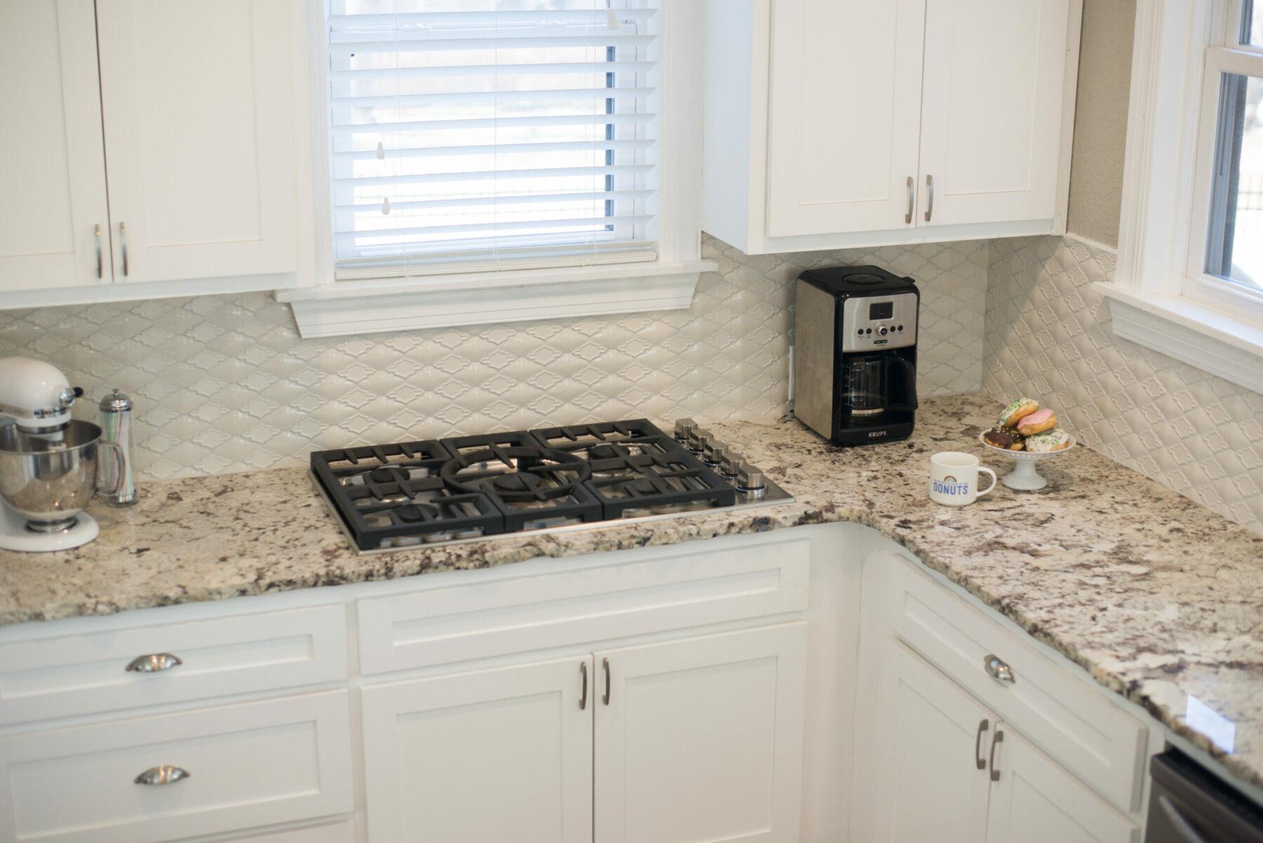 Kitchen Backsplash Update With Mill Creek Carpet Tile