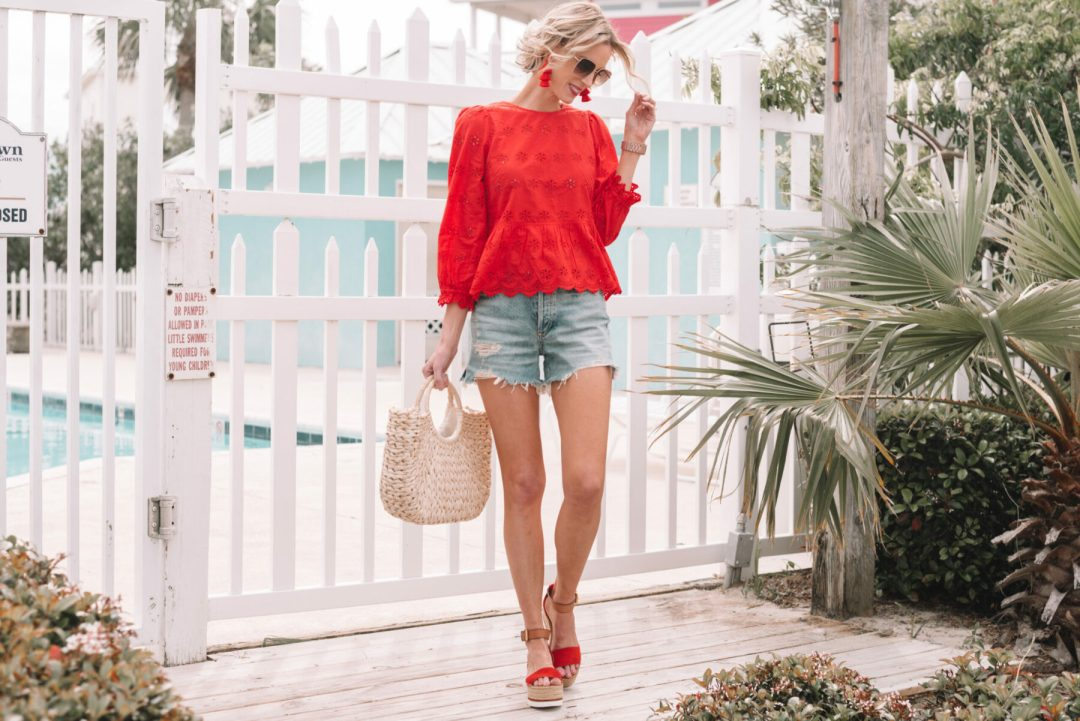 d723004e6b9 Today I thought I would share this adorable outfit from our beach trip and  a bit about the best self tanner plus my at home tanning routine.