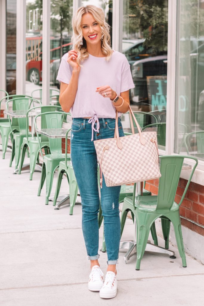 cute and casual fall transition outfit