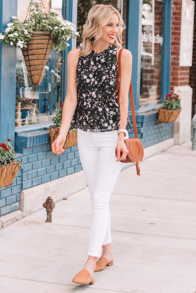 cute summer business casual jeans outfit