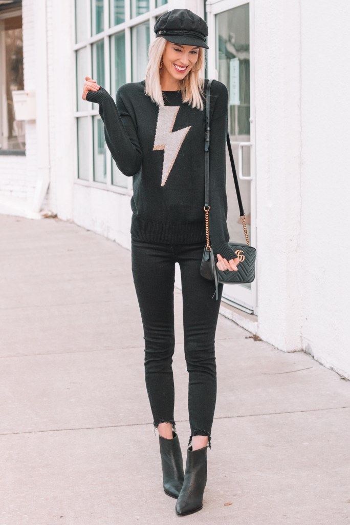 all black outfit, how to wear all black, styling tips for wearing all black, all black outfit ideas