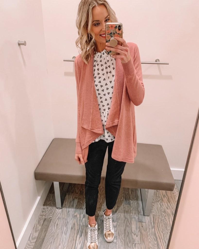 heart peplum blouse