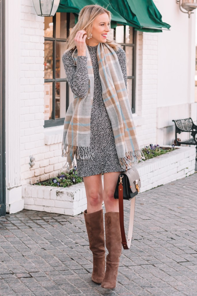 sweater dress outfit ideas and styling tips
