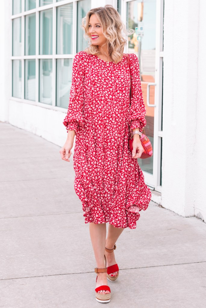 red floral dress, personalized Mother's Day gifts