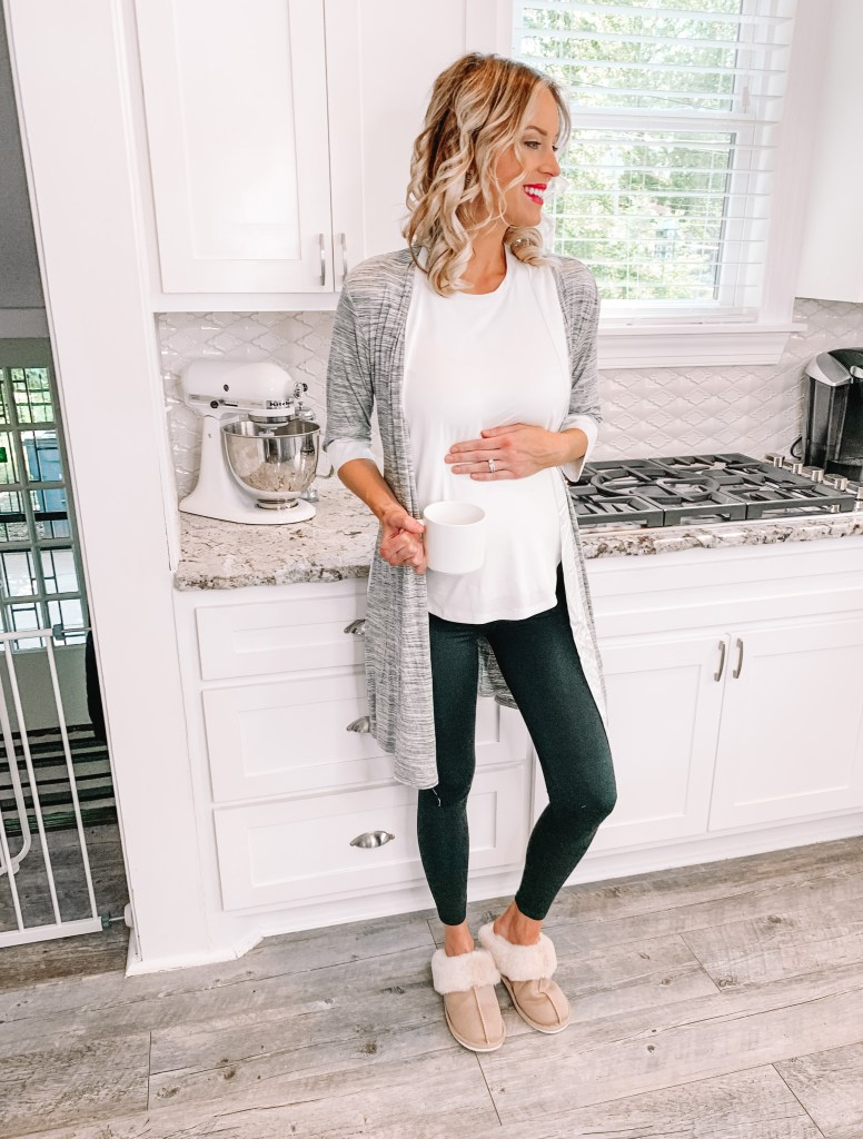 This is the best pair of maternity and postpartum support leggings. They have really helped my belly feel supported while pregnant and will be perfect once the baby comes during recovery.