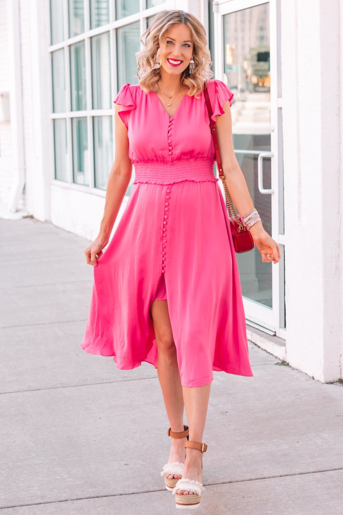 At only $59, this is the perfect pink girl baby shower dress! It's actually not even maternity. I just sized up.