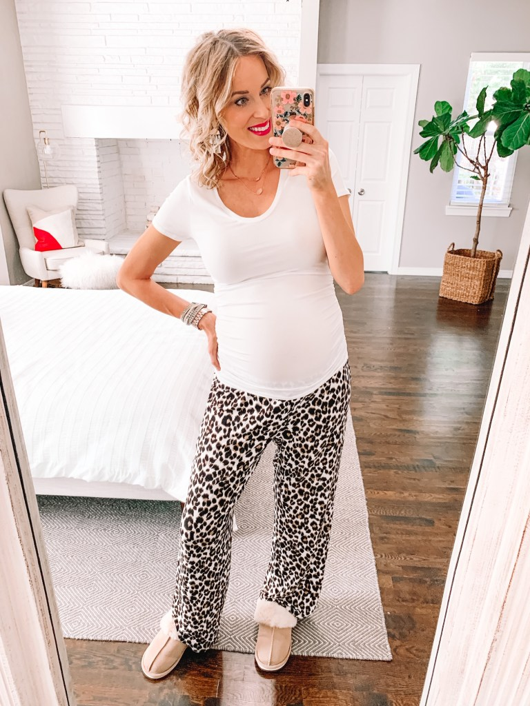 Yes to all the cozy and comfy pj pants! This pair of leopard pajama pants comes in several colors, and is just $18.