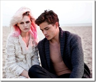 Charlotte Free and Francisco Lachowski for Ermanno by Ermanno Scervino