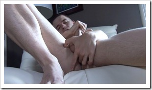 Aaron started pumping his fingers deeper and deeper in his hole as he jerked his cock faster and faster (8)
