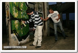 gangster fuck - Caning of a Sprayer (3)