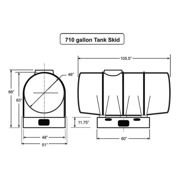 710 gallon storage tank specs