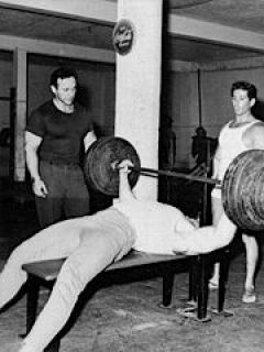 George Eiferman, Dave Draper (benching) and Chuck Collaras at The Dungeon