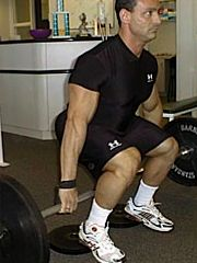Hack Squat with heels elevated - image via T-Nation