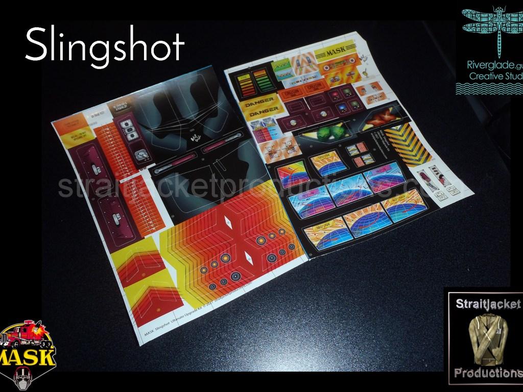 MASK M.A.S.K. Kenner Slingshot Ultimate Upgrade Stickers Label Decal Kit