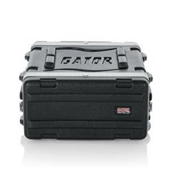 gator cases grr 4l molded pe rolling audio rack case
