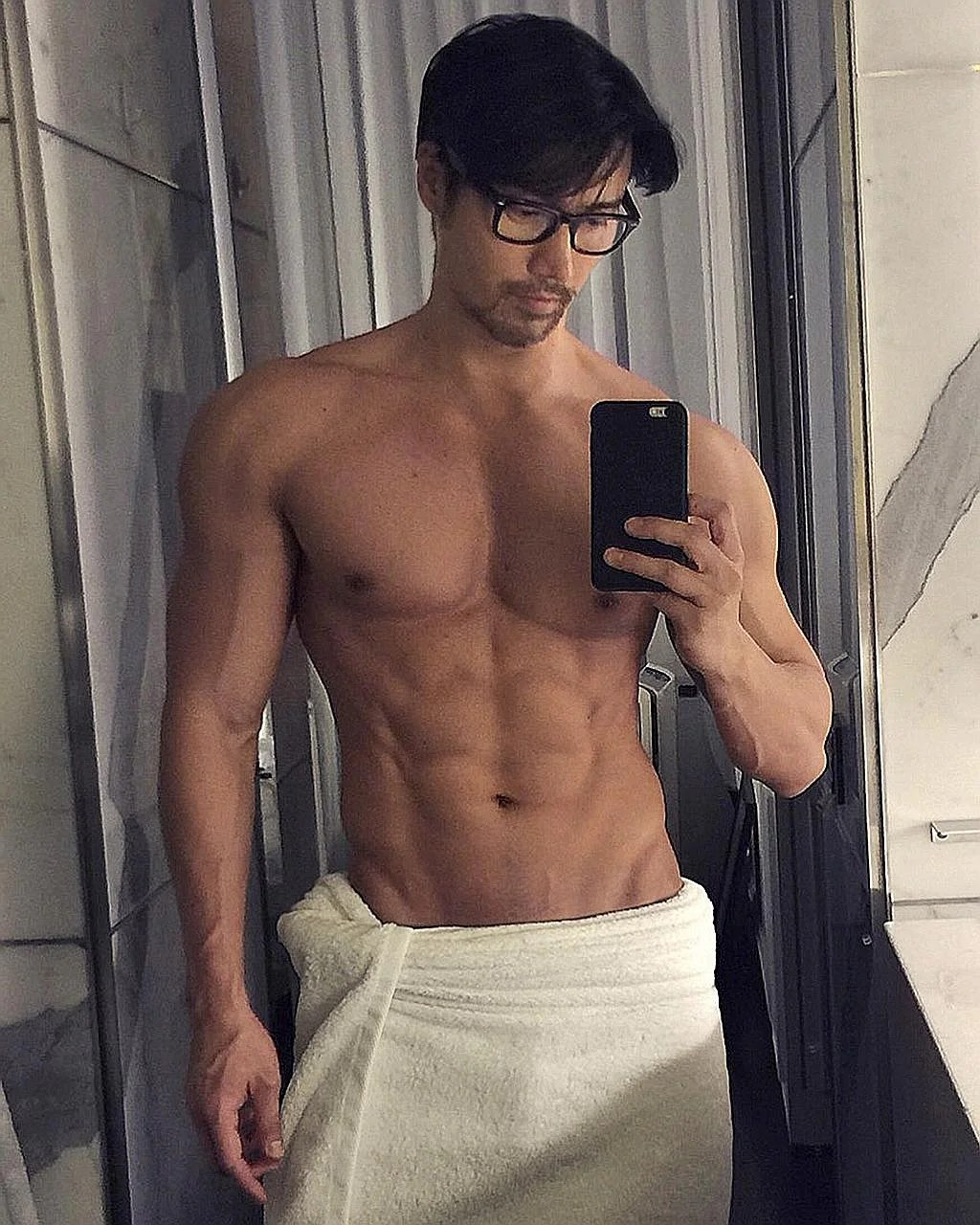 Tan has peppered his Instagram with holiday photos and about two dozen bare-bodied photos showing off his very impressive biceps and abs. He now has 424,000 followers.