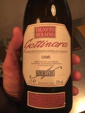 Gattinara Vigneto Moline 1996, Nervi