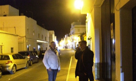 Neue Straßenbeleuchtung in Conil