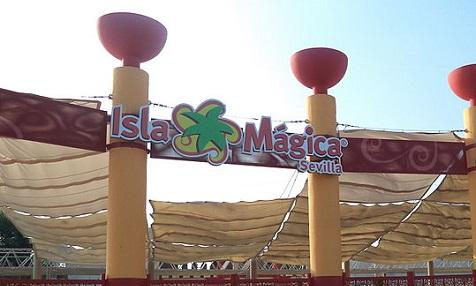 Eingang Isla Mágica Sevilla