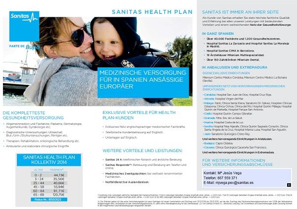 spanische Krankenversicherung Sanitas