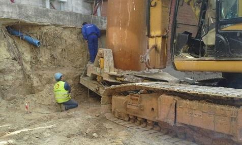 Bauarbeiten Straßenbahn Chiclana
