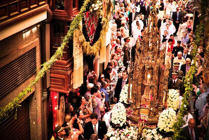 Fronleichnam in Spanien