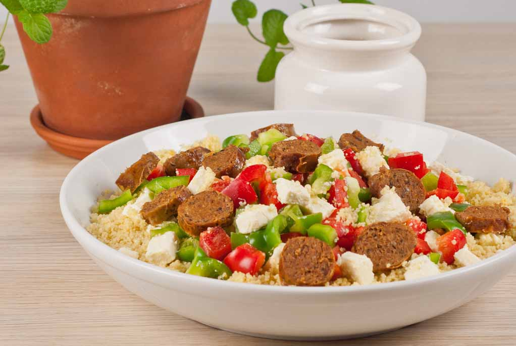 Couscous with Sausages and Peppers