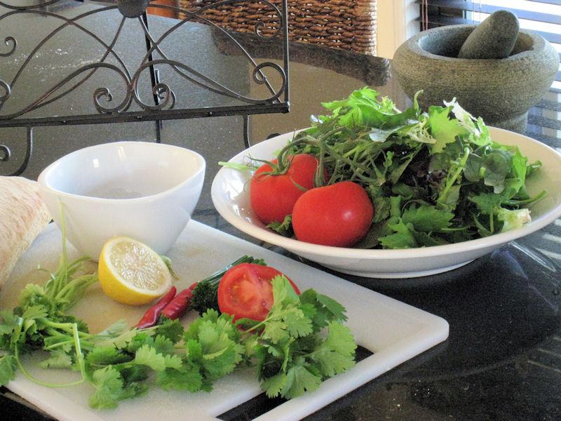 Ingredients for Thai Beef Salad