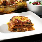 Fast lasagna with spinach