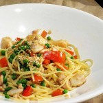 Stir-fried ginger fish with spaghetti