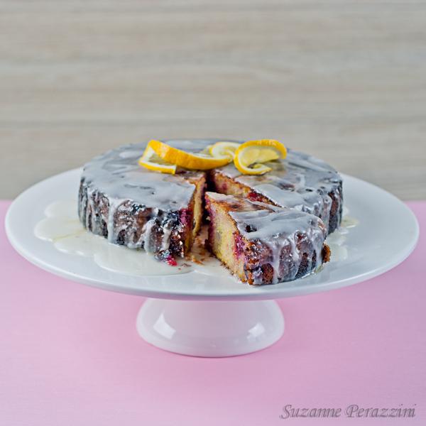 Lemon & Berry Polenta Cake - gluten free