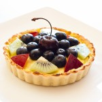 Custard Fruit Tart - grain and refined sugar-free