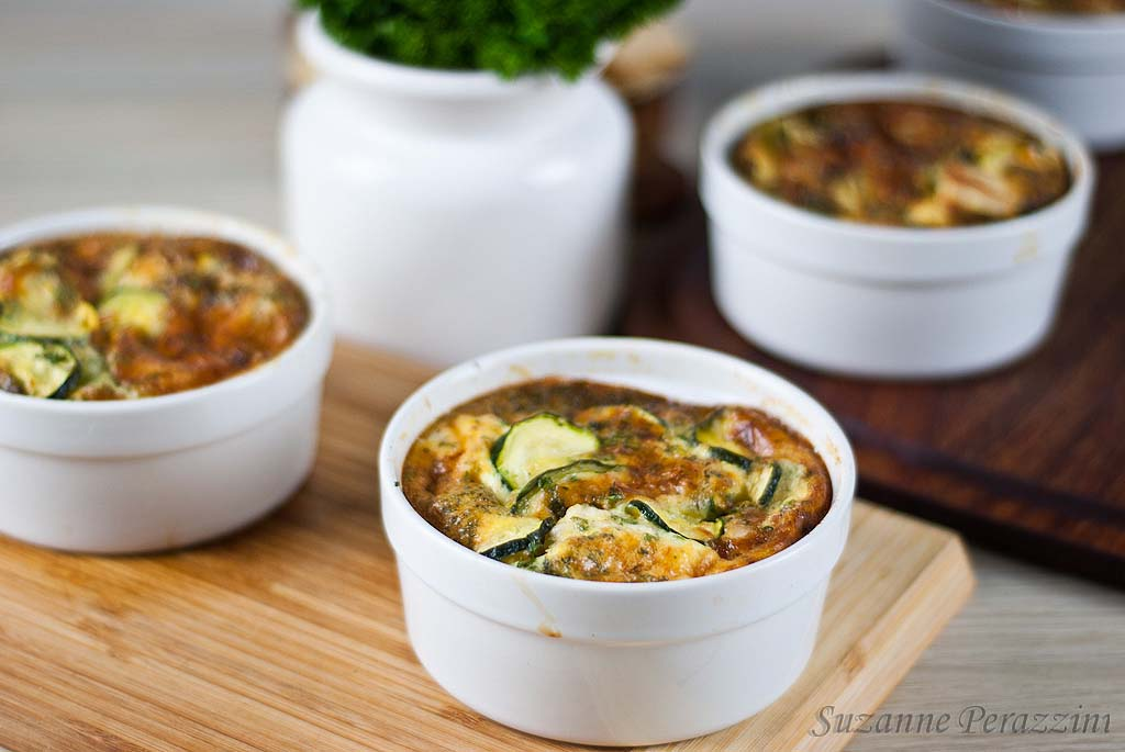 Chicken Zucchini Gruyere Clafoutis - Gluten-free and low FODMAPs