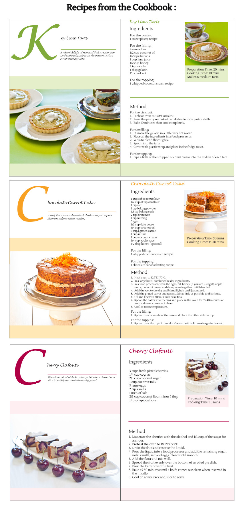 Afternoon Tea - cookbook for food intolerances - gluten-free, grain-free, dairy-free, nut-free, refined sugar-free