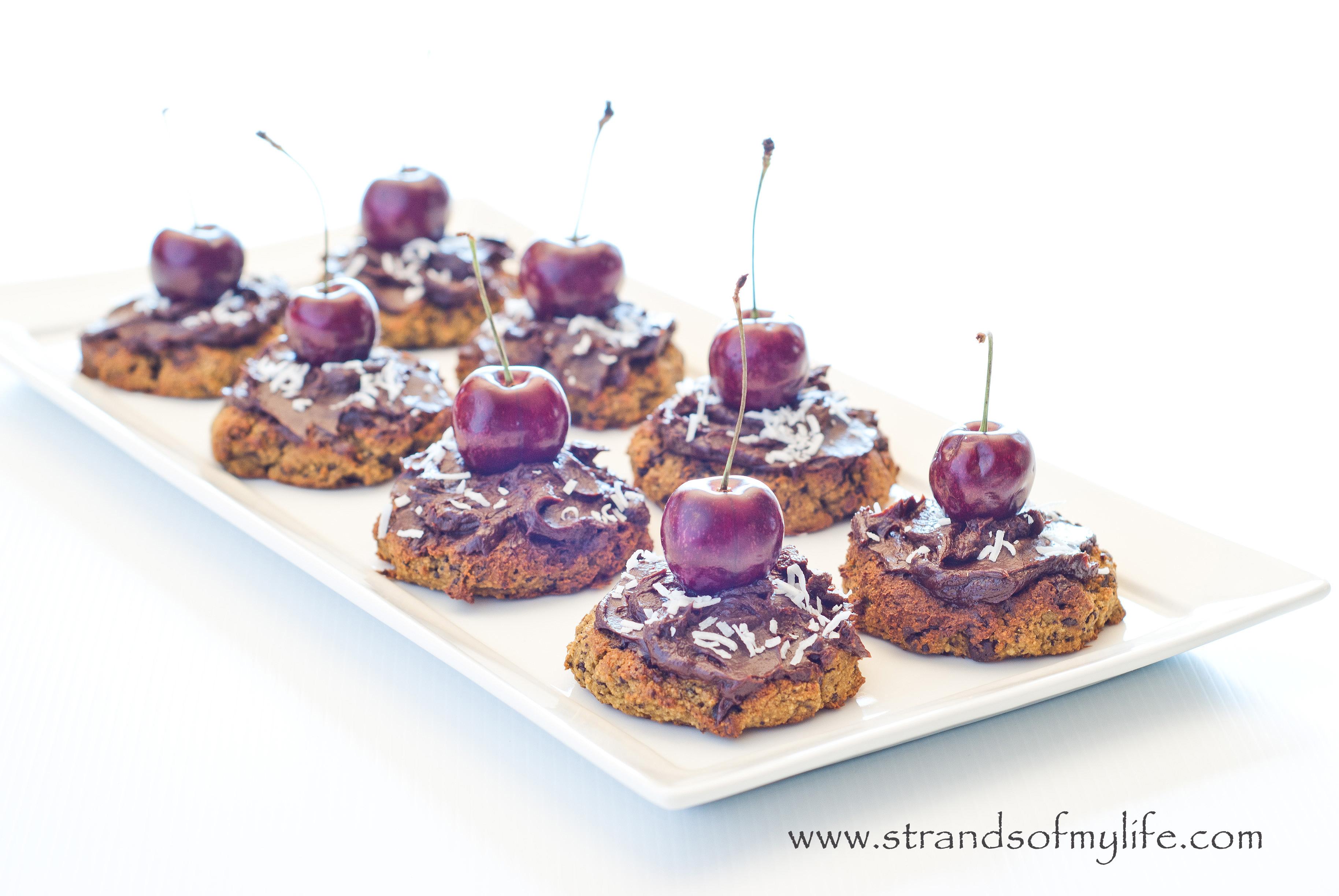 Chocolate avocado cookies