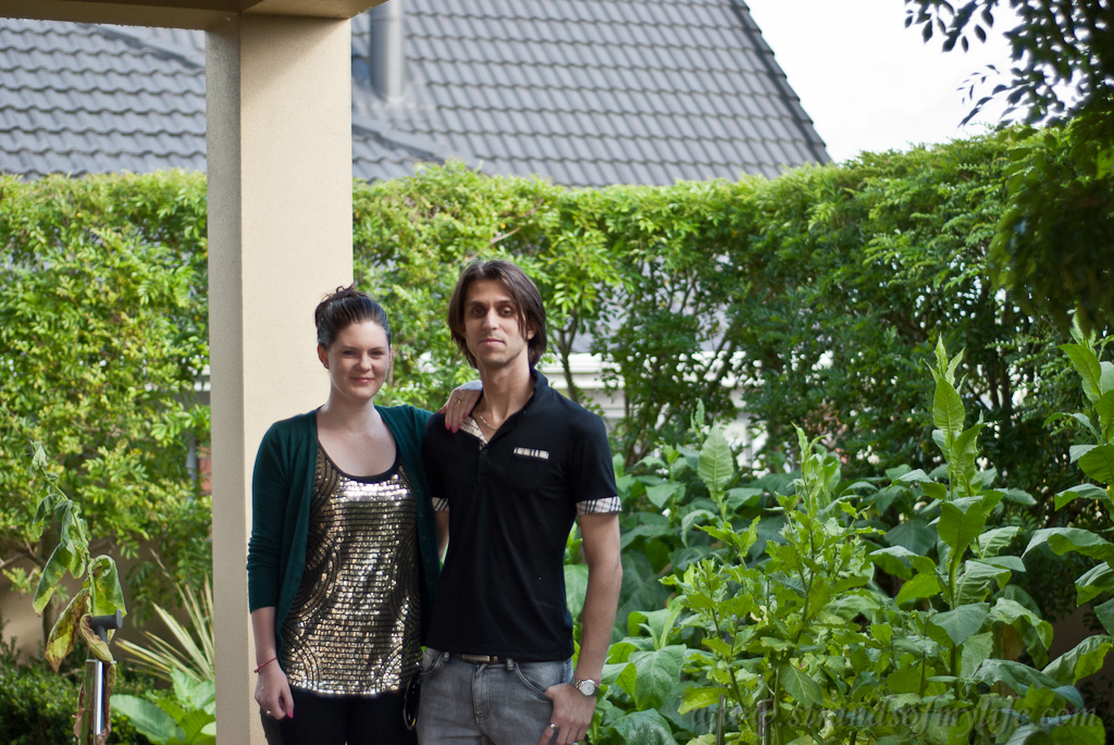 Dario & Alex with tobacco plants