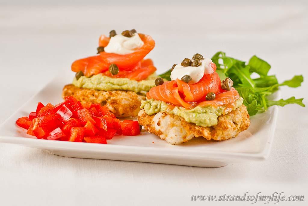Salmon & Avocado on Tapioca Buns – gluten and grain-free and low FODMAP