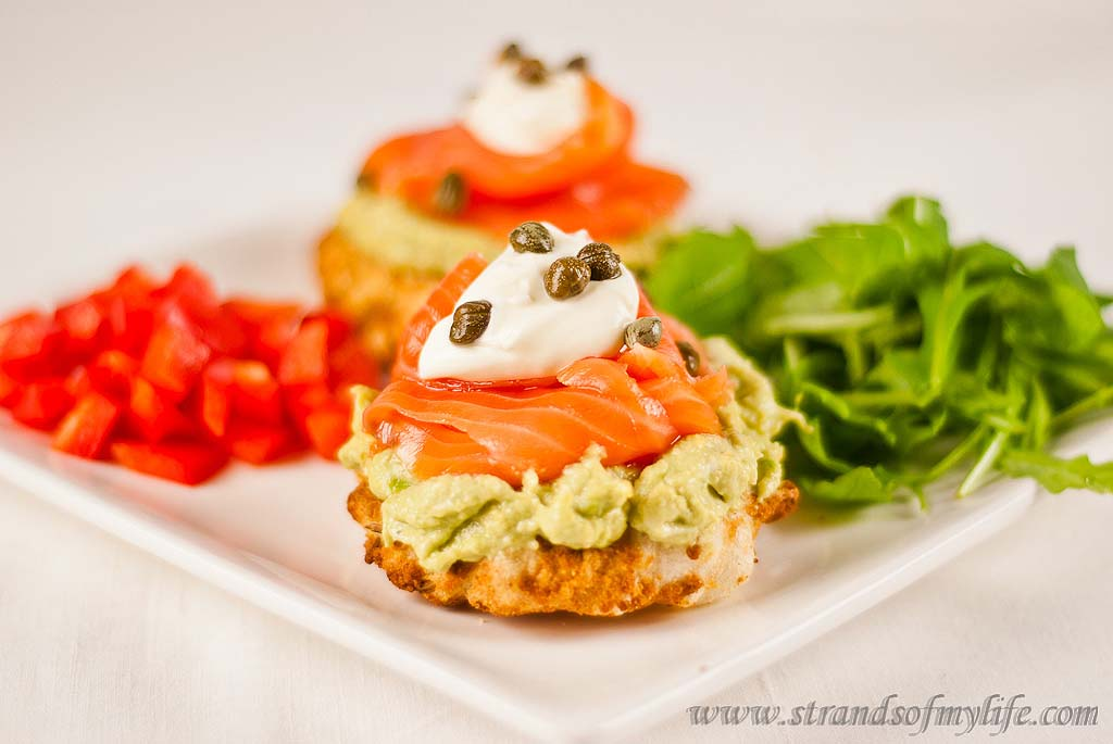 Salmon & Avocado on Tapioca Buns – gluten and grain-free and low FODMAP