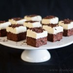 Chocolate Brownie Cheesecake Squares - gluten free & low FODMAP