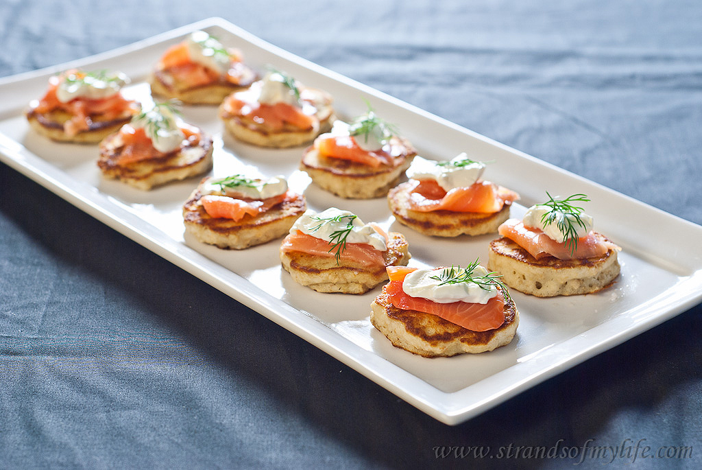 Blinis with Salmon and Sour Cream - gluten-free and low FODMAP