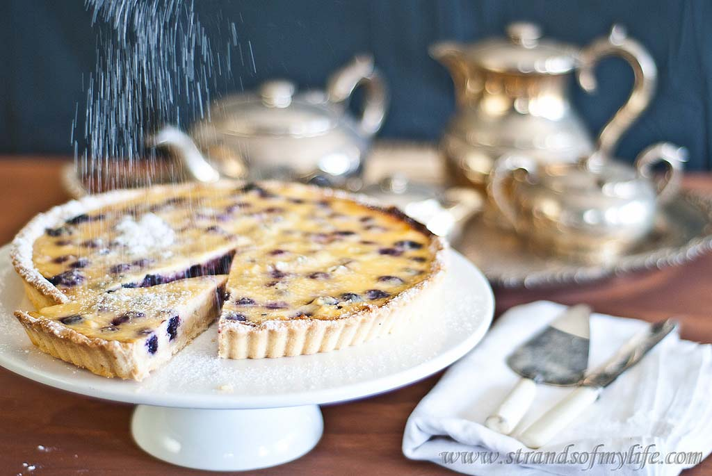 Blueberry Sour Cream Tart - Gluten-Free & low FODMAP