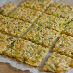 Camembert rice flake crackers - low Fodmap and gluten-free