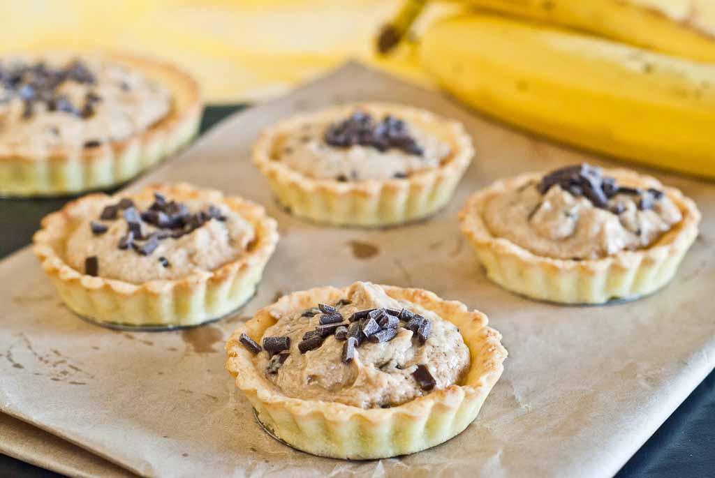 Peanut Banana Tarts - low Fodmap & Gluten-free