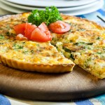 Cheese & Vegetable Flan - low fodmap and gluten-free