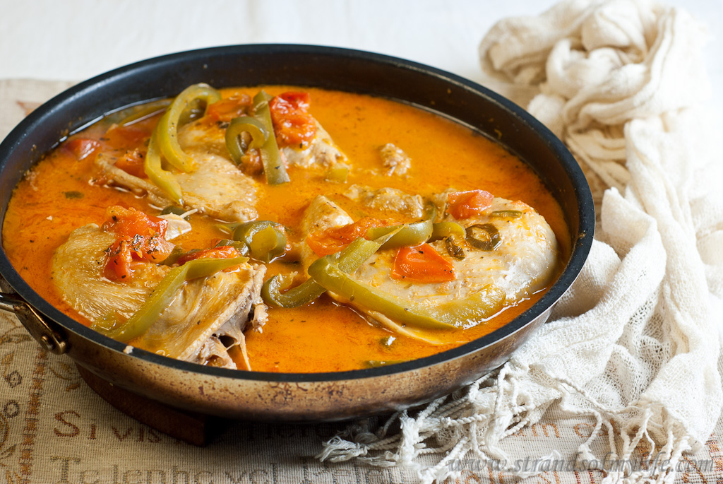 Chicken cacciatore -low Fodmap and gluten-free